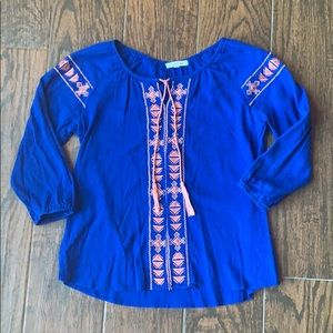 COPPER KEY Girls Peasant Top